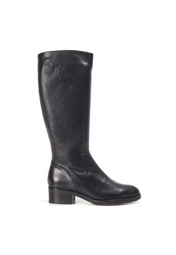 Shu Talk black WONDERS Simply Elegance Classy Leather Long Boots 99071SH4231E08GS_1