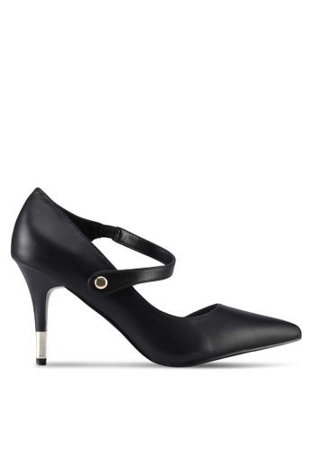 VINCCI black Strappy Heels 575A6SHCF31D25GS_1