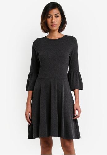 Dorothy Perkins grey Flute Sleeve Dress DO816AA0RY1AMY_1