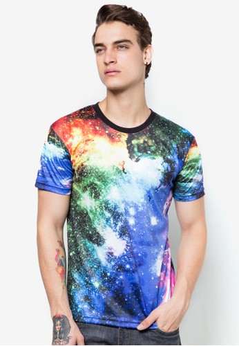 宇宙銀河圖圓領TEEesprit台灣網頁, 服飾, 印圖T恤