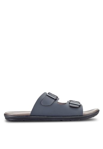 Louis Cuppers grey Buckle Sandals LO977SH16RDRMY_1
