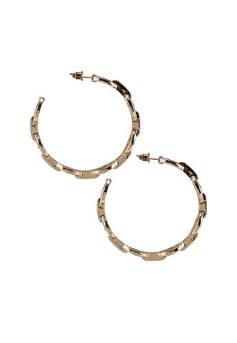 Megane gold Lopps Earrings 59302ACE7FEE17GS_1
