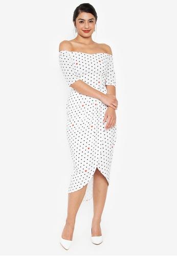 39f4991ce4ff Shop Wear Kris Kristina Off Shoulder Midi Dress Online on ZALORA ...
