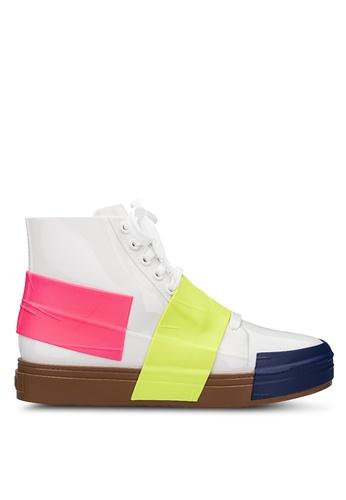 Melissa 多色 拼接高筒運動鞋 57D02SHC13E6E9GS_1