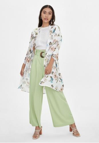 Pomelo white Loose Bold Floral Kimono - White 634AAAA3FD4CDDGS_1