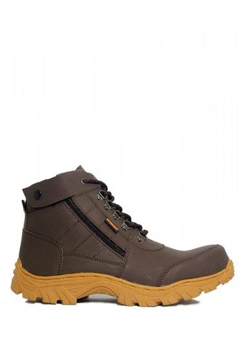Cut Engineer brown Cut Engineer Zipper Combo Safety Boots Iron Leather Brown 7AF11SHC6A4B84GS_1
