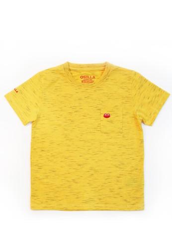 Osella Kids yellow Osella Baju Anak laki Laki Tshirt Polos Saku Osie Yellow F7A7EKACDB1D27GS_1