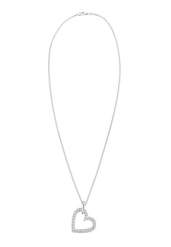施esprit台灣outlet華洛世奇水晶心形 925 純銀項鍊, 飾品配件, 項鍊