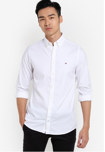 Tommy Hilfiger white STRETCH OXFORD SF2 TO861AA12FPVMY_1