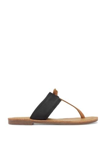 ROC Boots Australia black Raj Black/Tan Sandal RO289SH32BQLSG_1