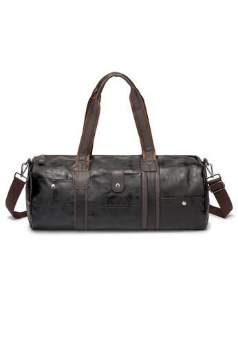 Lara black Zipper Drum Bag With A Cross Body Strap - Black 29BACAC72A3B31GS_1