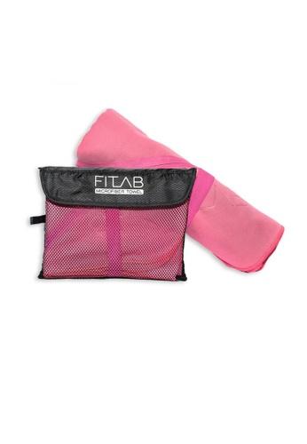 Fitlab pink Microfiber Beach Towel 2BC0CHLF8AE56CGS_1