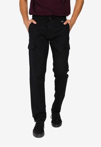 Indicode Jeans black Leonardo Cargo Pants F5FDAAA8D44A28GS_1
