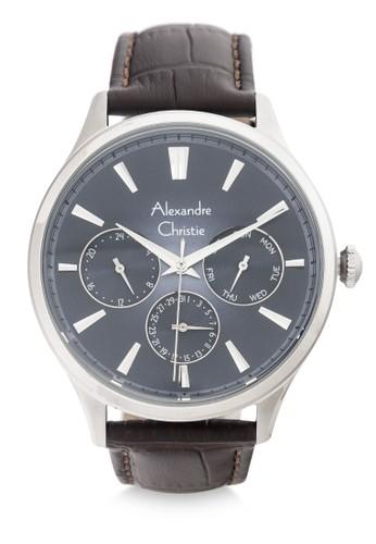 Alexandre Christie brown Alexandre Christie Jam Tangan Pria - Brown Silver Blue - Leather Strap - 6569 MFLSSBU 35B24AC7B01FC8GS_1