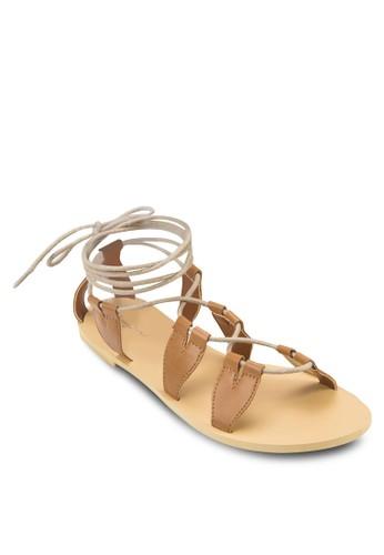 Love 繫帶羅馬涼鞋,zalora 鞋評價 女鞋, 涼鞋