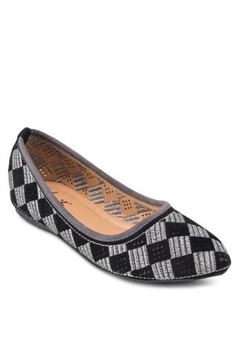 格紋尖頭平底鞋, 女鞋,esprit 童裝 鞋