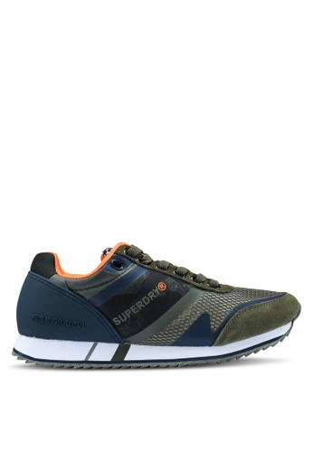 Superdry green and multi Fero Runners B02FASH07AEC26GS_1