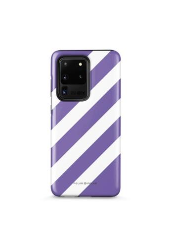 Polar Polar purple Purple Slash Dual-Layer Tough Case Glossy For Samsung S20 Ultra AFEC7ACE13A3CAGS_1