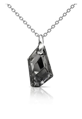 Her Jewellery grey and silver Swarovski® Crystals - Silver Knight Pendant (Grey)(18K White Gold Plated) Her Jewellery HE581AC0RAKKMY_1
