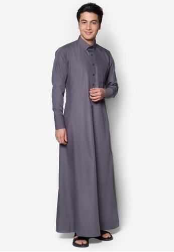 Amar Amran grey Jubah A Daler Yusuf Edition Slim Fit (Dark Grey) CD84AAA9C8CE04GS_1