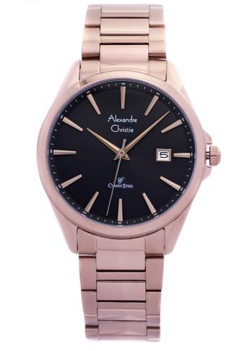 Alexandre Christie black Alexandre Christie 8552MD - Jam Tangan Pria - Stainless Steel - Gold Hitam 784F5AC1148846GS_1