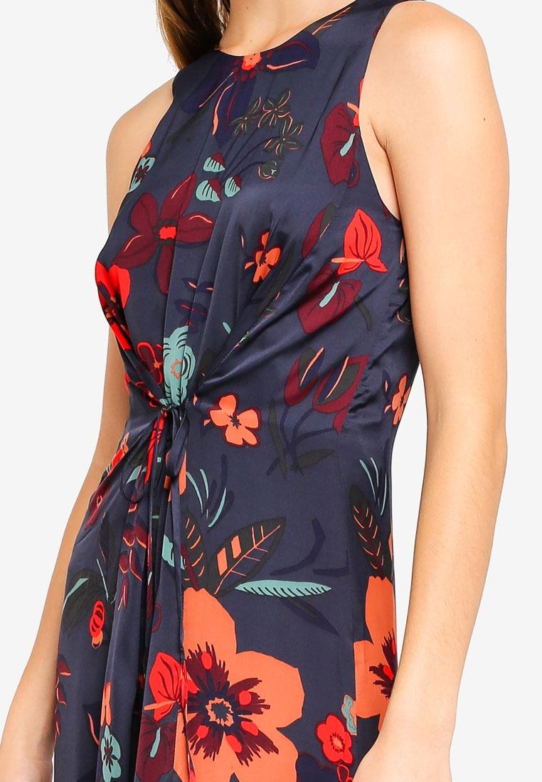 Woven Light Dress ESPRIT Blue Maxi 7x0zxwd