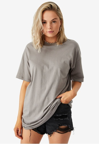 Supre grey Rumi Oversized Tee 26EFFAA2BC3A32GS_1