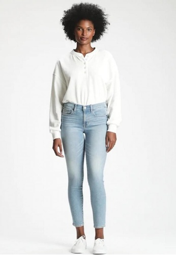 Gap blue Mid Rise True Skinny Jeans 8EDC5AA07E87BBGS_1