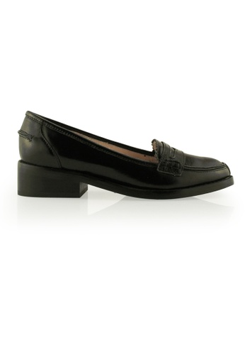 Gripz black Kenedy Block Heel Loafer GR357SH0GI0DSG_1