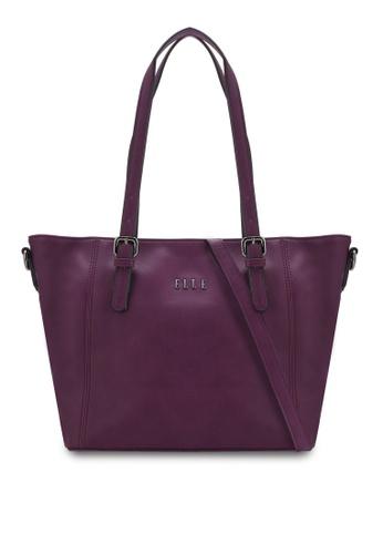 ELLE purple Dacey Shoulder Bag EL900AC04VXFMY_1