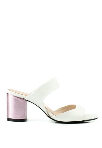 Nelissa Hilman white and pink Ruth Block Heel NE711SH0RQK7MY_1