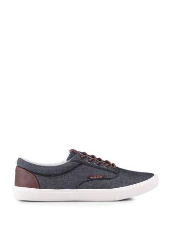 Jack & Jones 黑色 JFWVISION Canvas Sneaker C0FACSH1F825E9GS_1