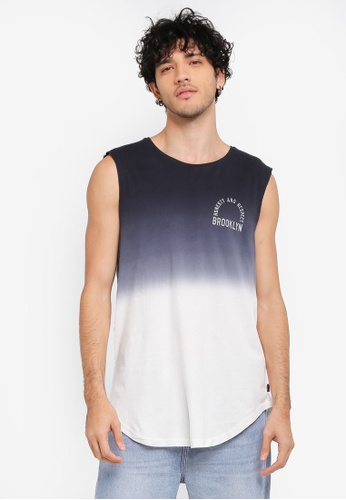 Factorie black Shaded Amped Curved Tank Top FA880AA0SKMGMY_1