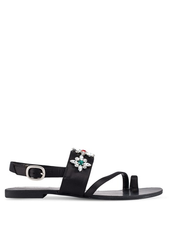 ZALORA black Gem Embellished Sandals 5CCB8SH0215071GS_1