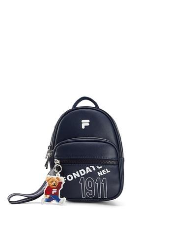 FILA navy 3D F Logo Backpack 6462EACC4170F3GS_1