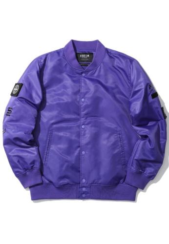Fivecm purple Emblem patch coach jacket 19083AA4F98C3CGS_1
