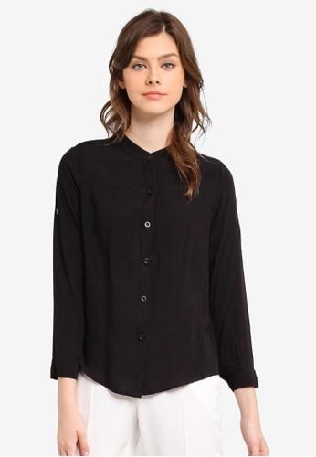 BYN black Long Sleeve Top BY059AA0SWLPMY_1
