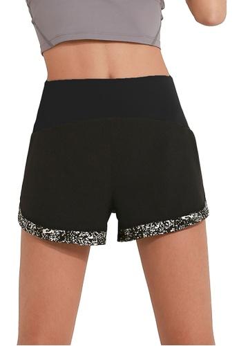 Sunnydaysweety black Luminous Quick-Dried Sports Shorts A081013BK 06083AAED822F1GS_1