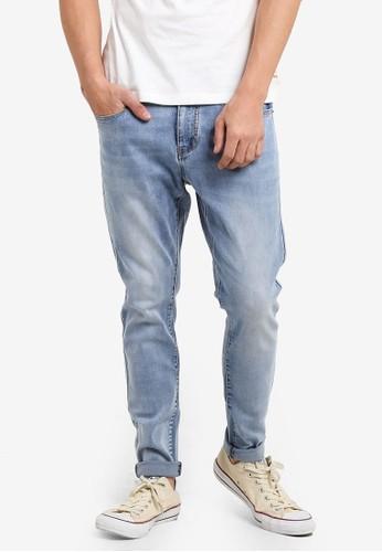 JAXON blue Washed Skinny Jeans F8654ZZEBF6194GS_1