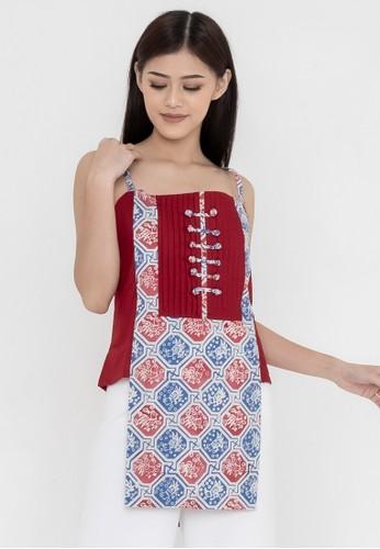 SAVI Batik red Batik Lola Top D8A30AAE85BEE5GS_1