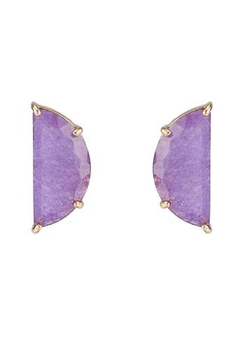 kate spade new york purple Mini Scallop Stud Earrings (cv) 0D7B6AC25E95E1GS_1