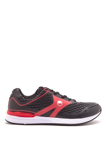 Grosby black and red Roadstar Sneakers GR420SH19KNWPH_1