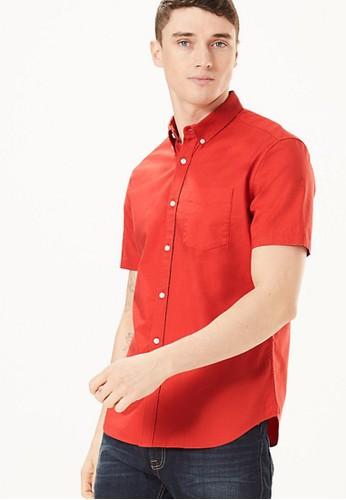 MARKS & SPENCER orange Pure Cotton Oxford Shirt 84027AA9BA0320GS_1