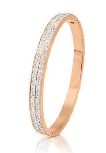 SO SEOUL gold Chentel Double Row Austrian Crystal Rose Gold Hinged Bangle 7E2FAAC6DB5EEDGS_1