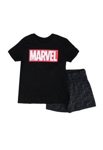 FOX Kids & Baby black Black T-Shirt And Shorts Set D71F1KA61CE995GS_1
