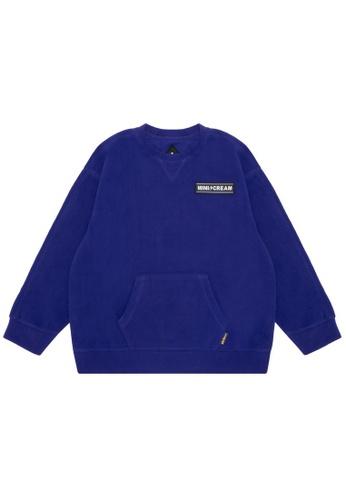 Mini cream blue Logo fleece sweatshirt F24B3AA7464F6EGS_1