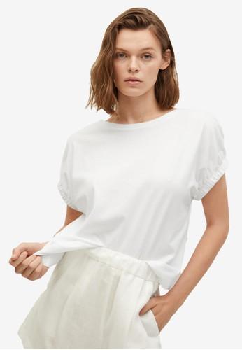 Mango white Oversize Cotton T-Shirt D7AFBAA692785DGS_1