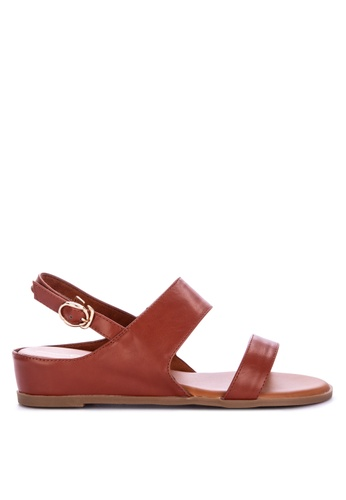 ac7534a59a1c Shop CLN Chastity Wedge Sandals Online on ZALORA Philippines