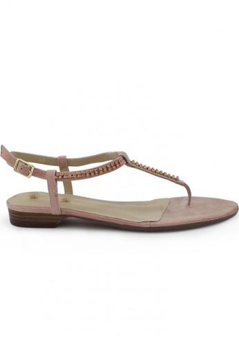 Shu Talk 粉紅色 麂皮涼鞋 SH544SH099UWTW_1