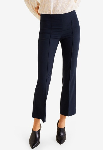 Mango navy Straight Suit Trousers 3E397AA493622EGS_1